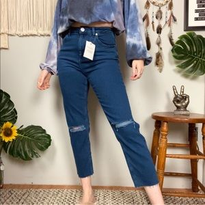 ASOS High Waist NWT Straight Mom Distressed Jeans